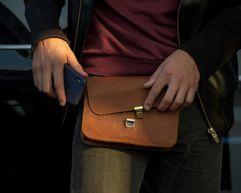 Convenient Fanny Pack Made Of Natural Leather