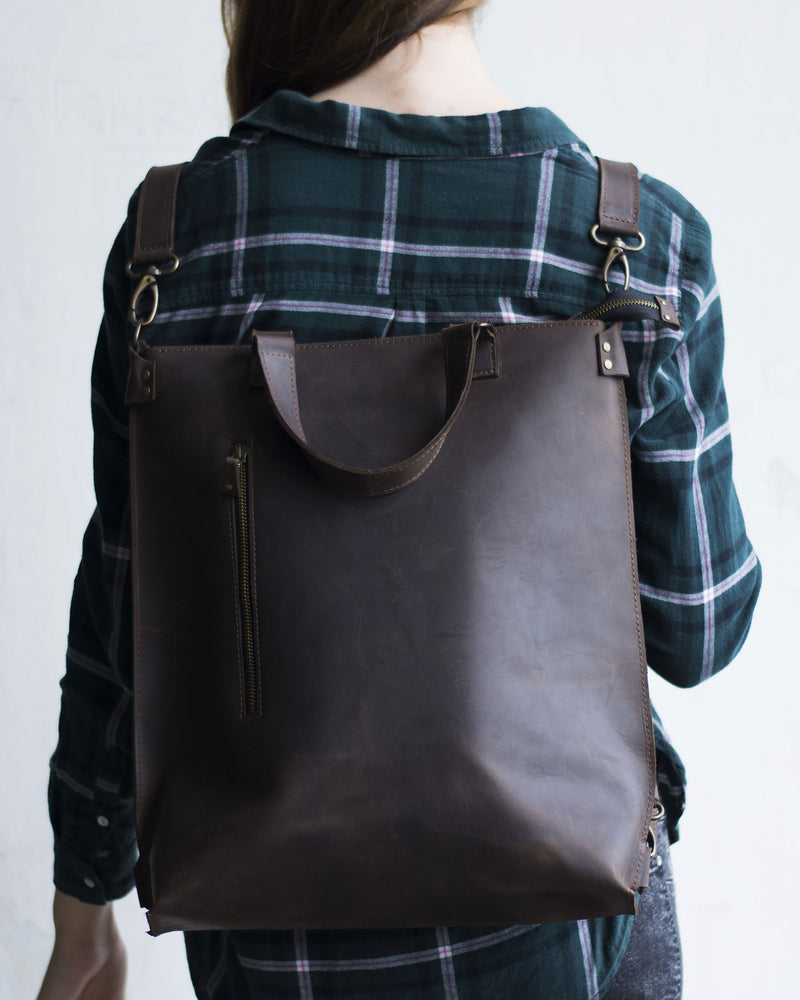 Unique Leather Convertible Backpack For Everyday Life