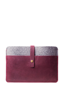 Leather And Felt Case For MacBook