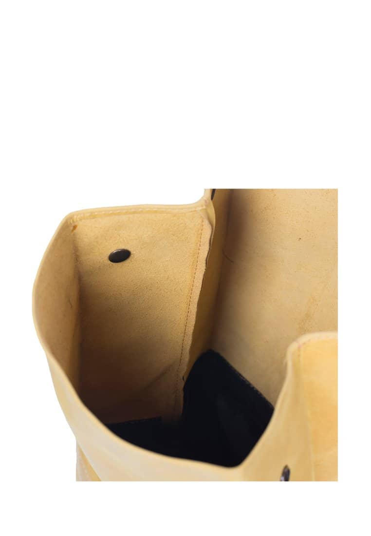Genuine Leather Lunch Bag With Roll Top