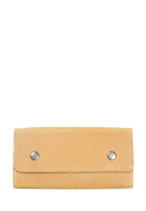 Genuine Leather Roomy Wallet With Buttons