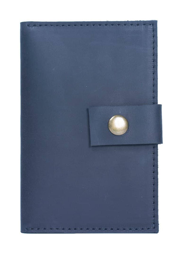 Stylish Leather Wallet Closed On A Small Strap With Button