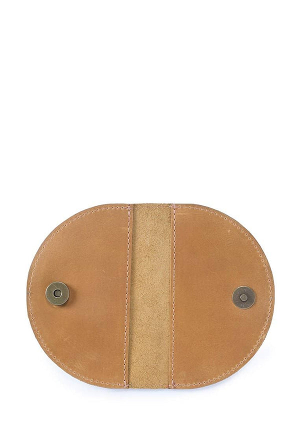 Elegant Semi-Circular Leather Cardholder Wallet