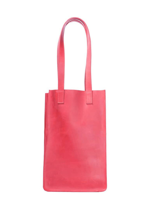 Tote Bag With Two Handles Made Of Genuine Leather