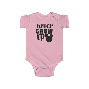 Never Grow Up Infant Fine Jersey Bodysuit