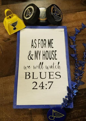 Blues and Cardinals Sports Signs