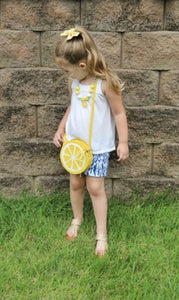 Lemon Purse, Necklace and/or Bow