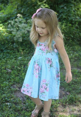Beach Floral Kids Dress