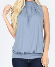 Load image into Gallery viewer, Premium High Neck Pleated Top
