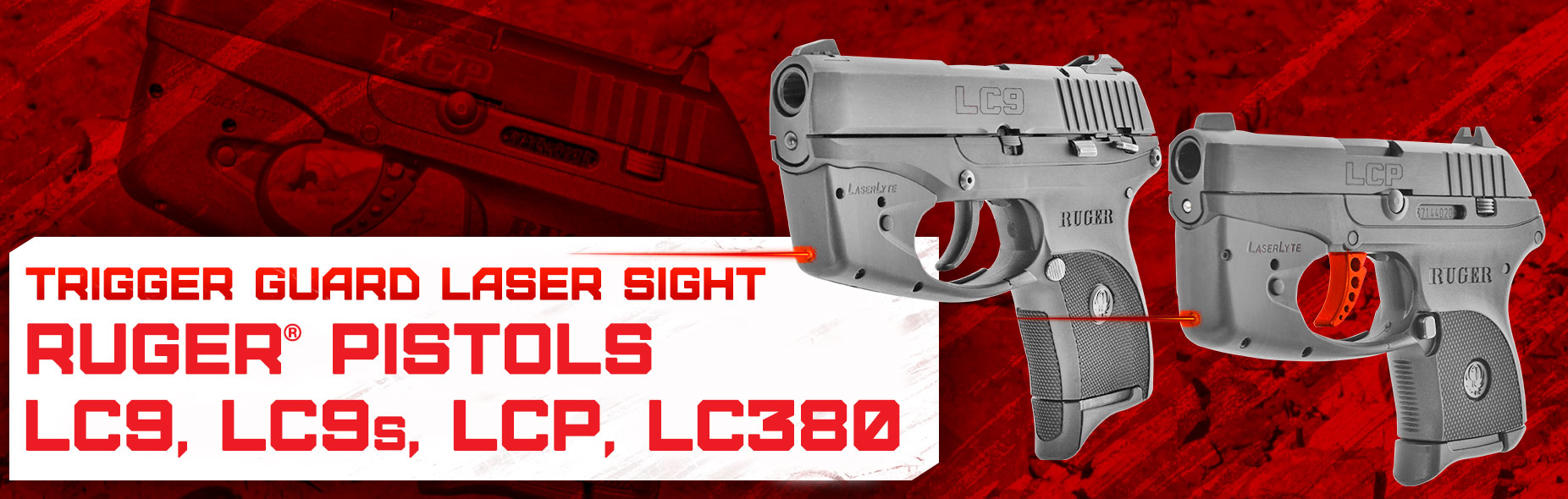 laser gun sight ruger lc9 lc9s lcp lc380 pistol