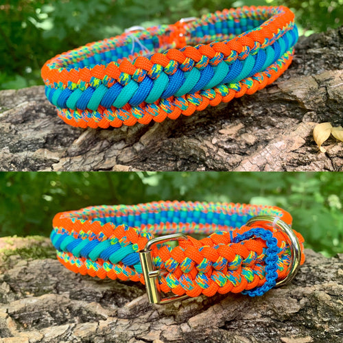 orange and blue Bootlace Collar 18