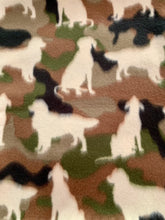 Load image into Gallery viewer, Dog Camo with Tan Edge Blanket