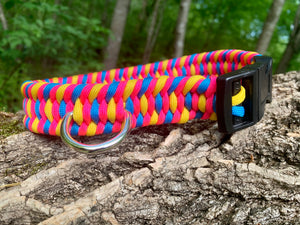 17-18 inch neck blue, hot pink and yellow collar