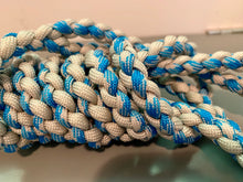 Load image into Gallery viewer, Slim Jim Blue and Silver Leash