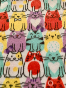 Colored Cats with Red Edge Edge Blanket