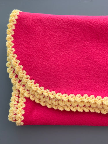 Pink with Yellow Edge Blanket