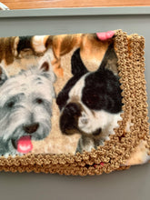 Load image into Gallery viewer, Dog Breeds with Tan Edge Blanket