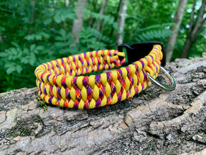 Trilobite collar in purple and yellow 14-15""