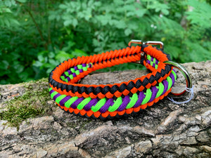 Bootlace Collar Halloween Colors 18-20""