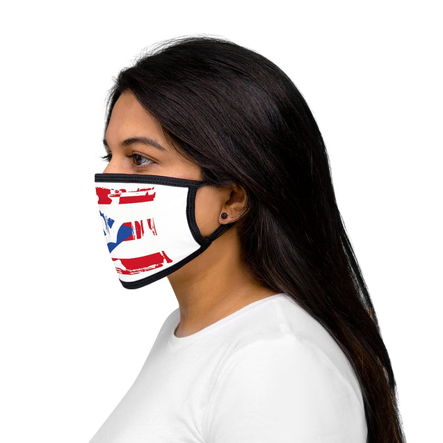 Bandera con Coqui Taino - Mixed-Fabric Face Mask