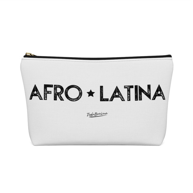 Off White Afro Latina Accessory Pouch w T-bottom