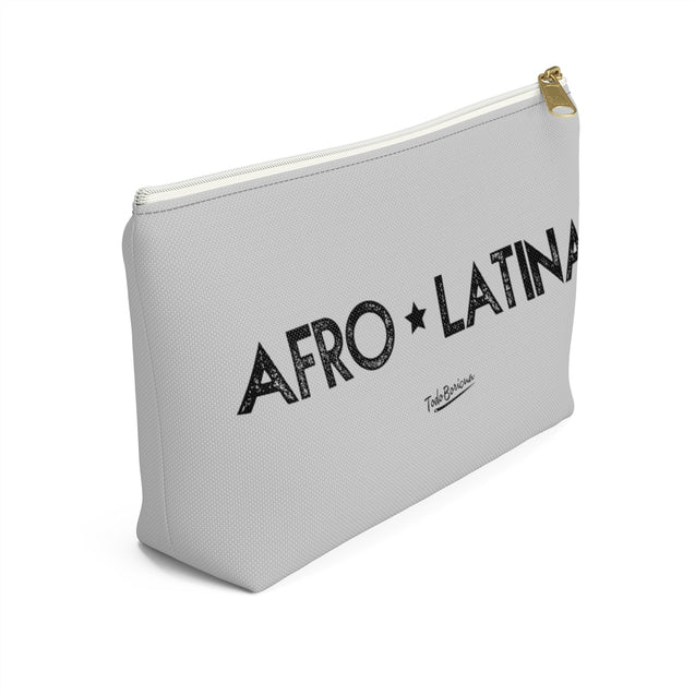 Copy of Light Gray Afro Latina Accessory Pouch w T-bottom