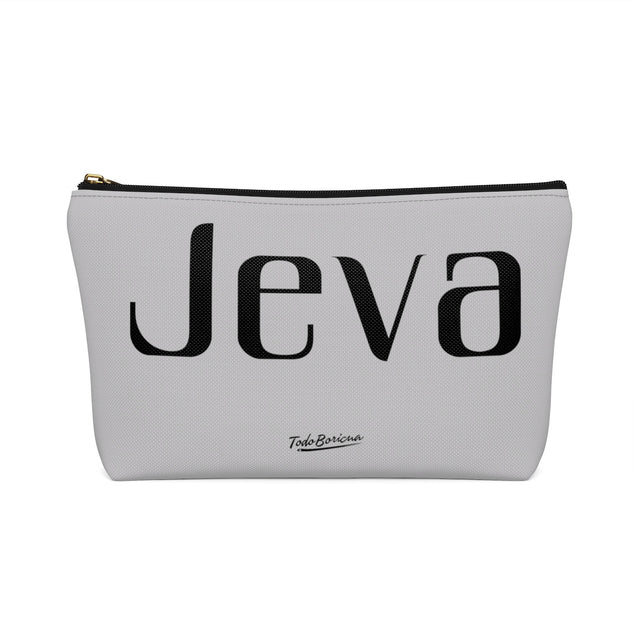 Gray Jeva Accessory Pouch w T-bottom