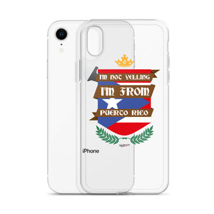 I'm Not Yelling iPhone Clear Case
