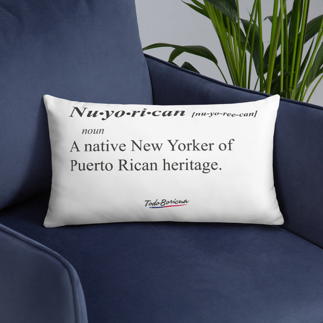 Nuyorican Definition Pillow