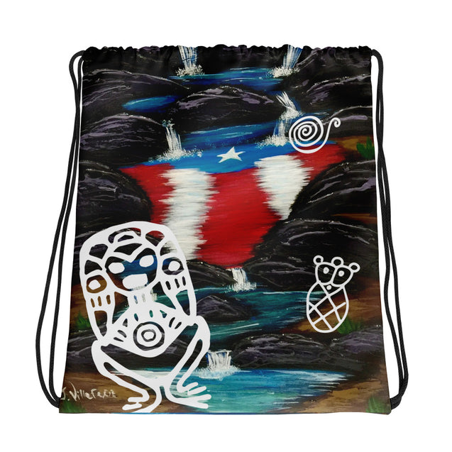 Taino Art Drawstring bag