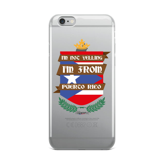 I'm Not Yelling iPhone Case