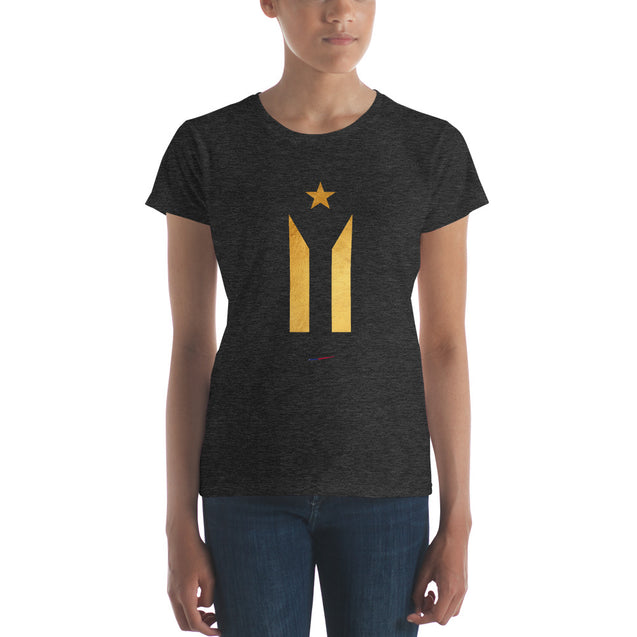 Gold PR Flag Premium Women's Tee