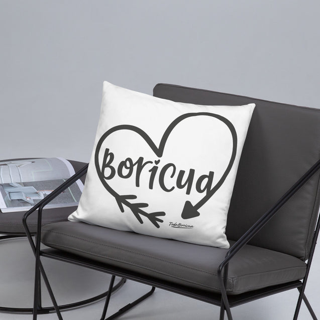 Boricua Heart Pillow