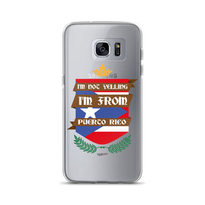 I'm Not Yelling Samsung Clear Case