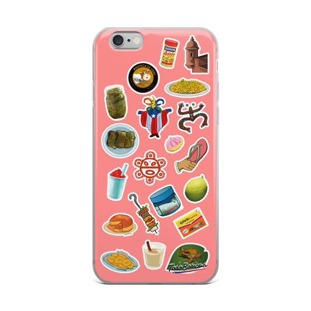Boricua Icons Pink iPhone Case