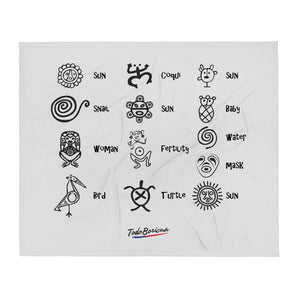Taino Symbols w/ Meaning Throw Blanket