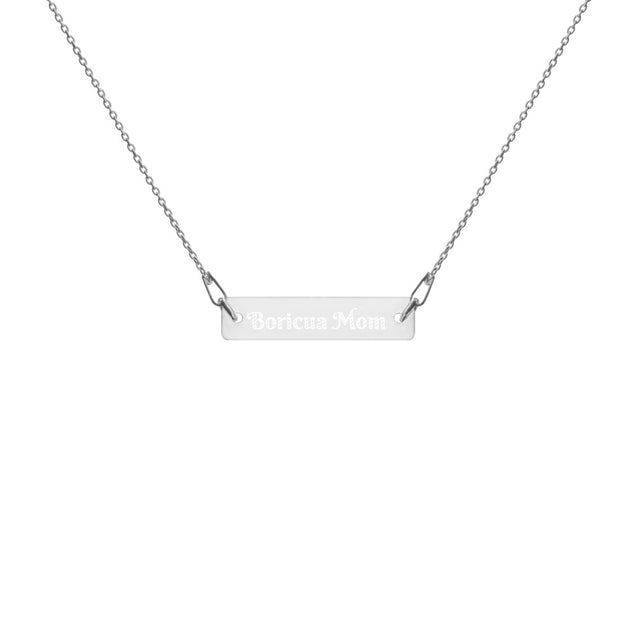 Boricua Mom Engraved Chain Necklace