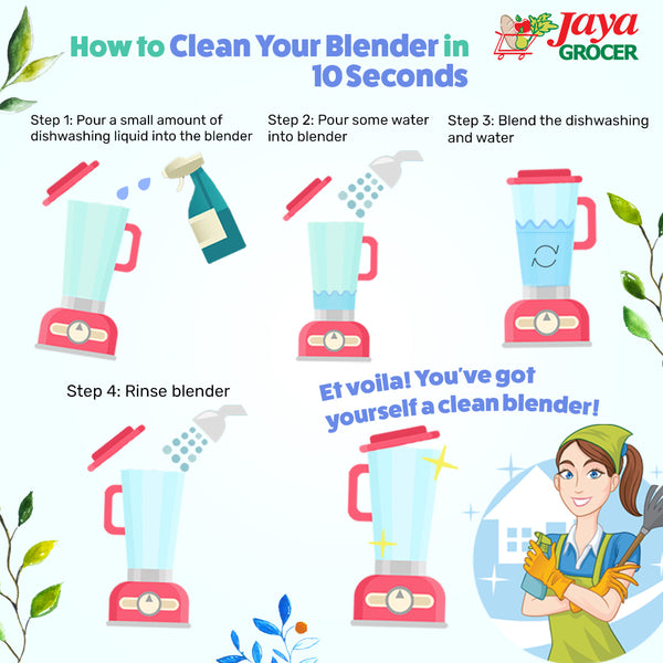 How to Clean Your Blender in 10 Seconds