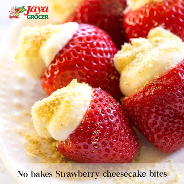 No Bake Strawberry Cheesecake Bites
