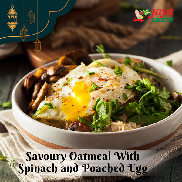 Savoury Oatmeal with Spinach and Poached Egg