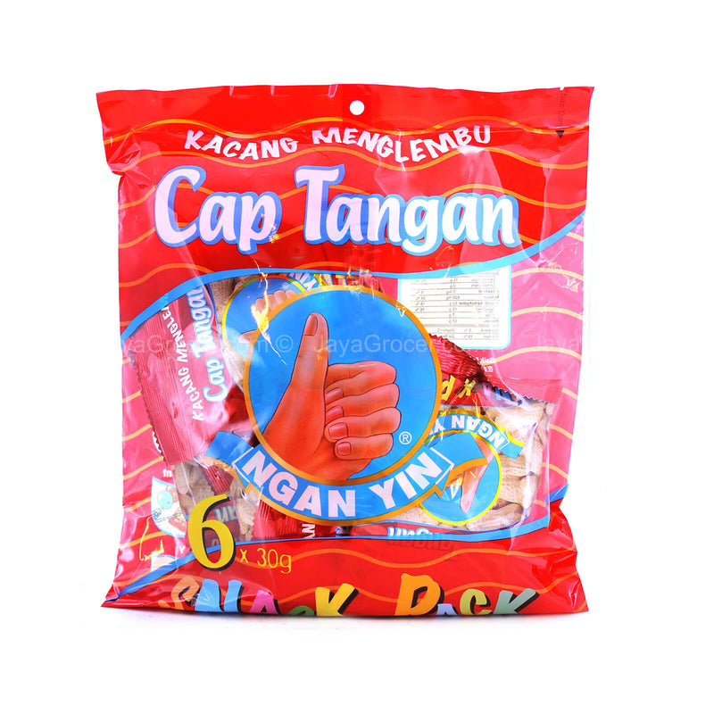 Cap Tangan Ngan Yin Groundnuts Snack Pack 30g x 6packs