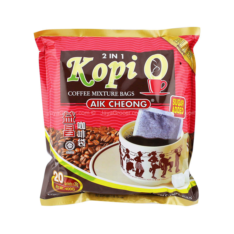 Aik Cheong 2 in 1 Kopi O Coffee Mixture Bags 20g x 20