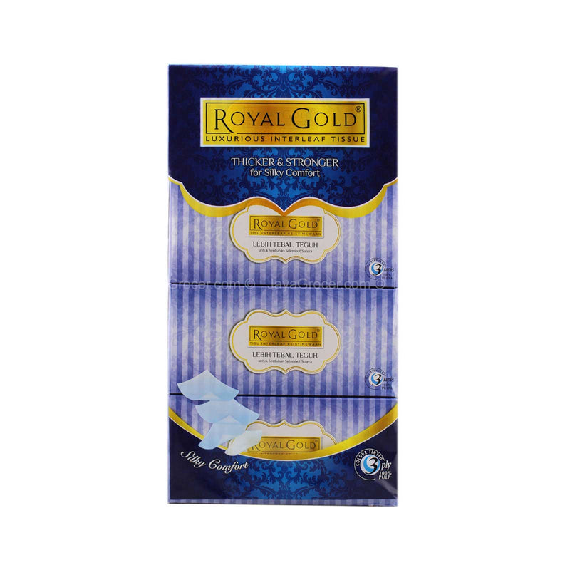 Royal Gold Luxurious Interleaf Facial Tissue 120pulls x 4boxes
