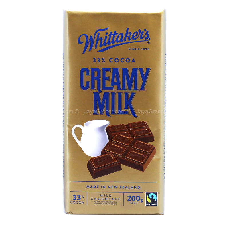 Whittaker's Creamy Milk Chocolate Bar 200g