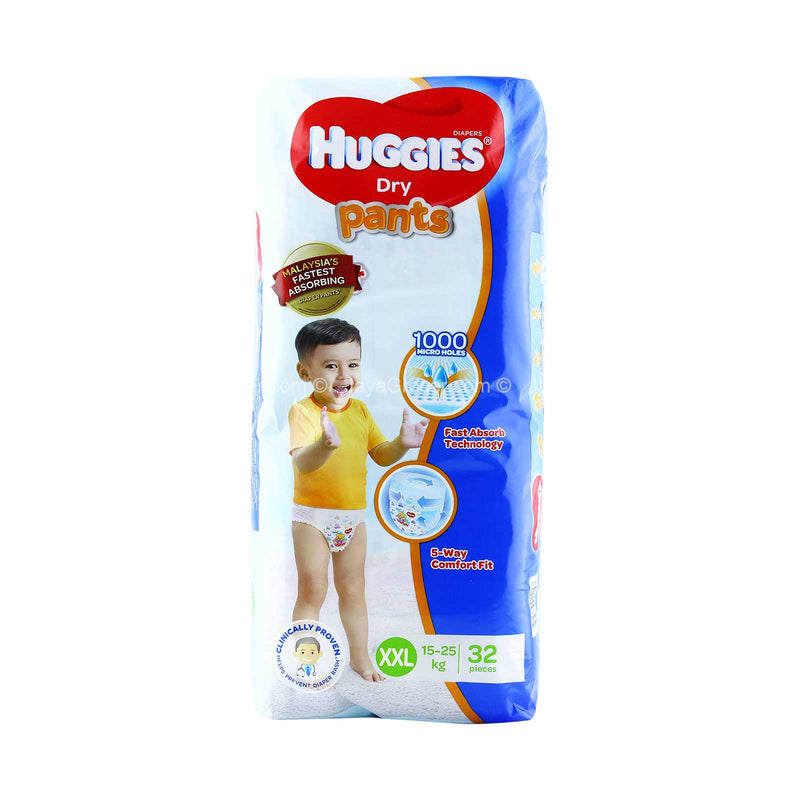 Huggies Dry Pants XXL Size Baby Diapers  (For 15-25kg baby) 32pcs