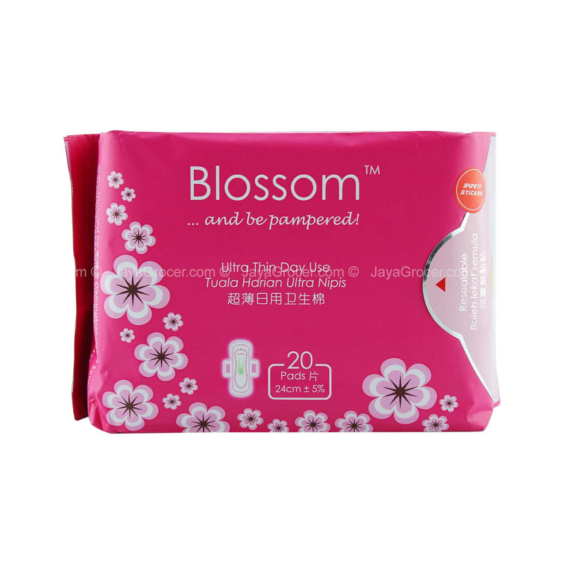 Blossom Ultra Thin Day Use Wing Pad 24cm x 20pcs