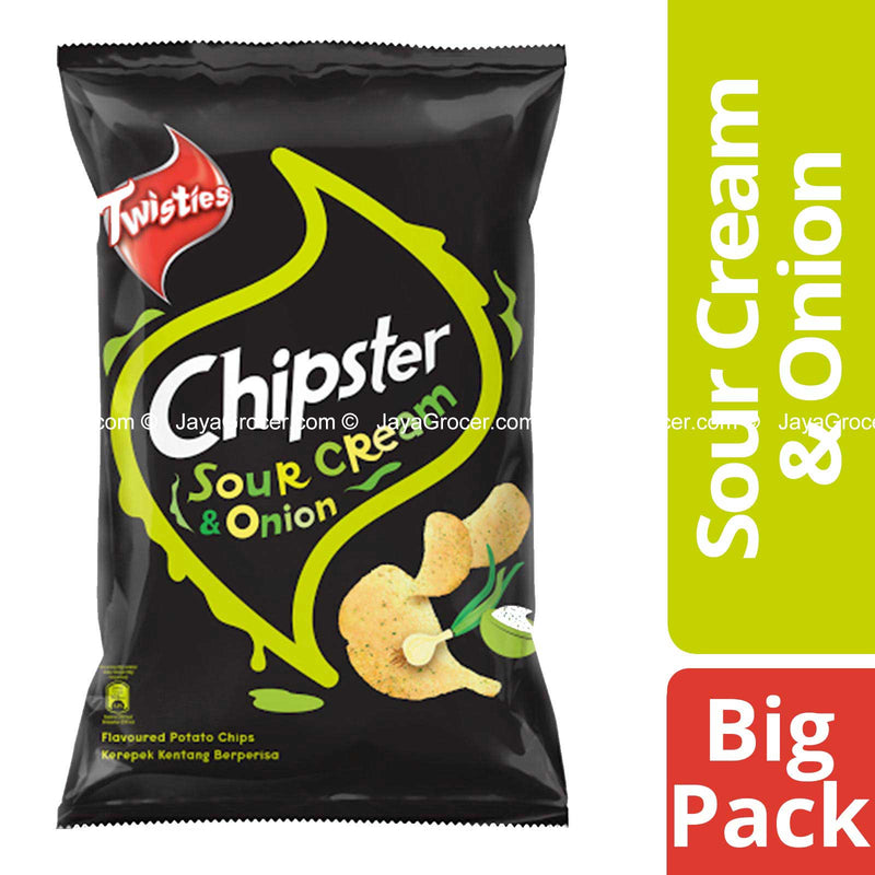 Chipster Potato Chips Sour Cream and Onion 160g