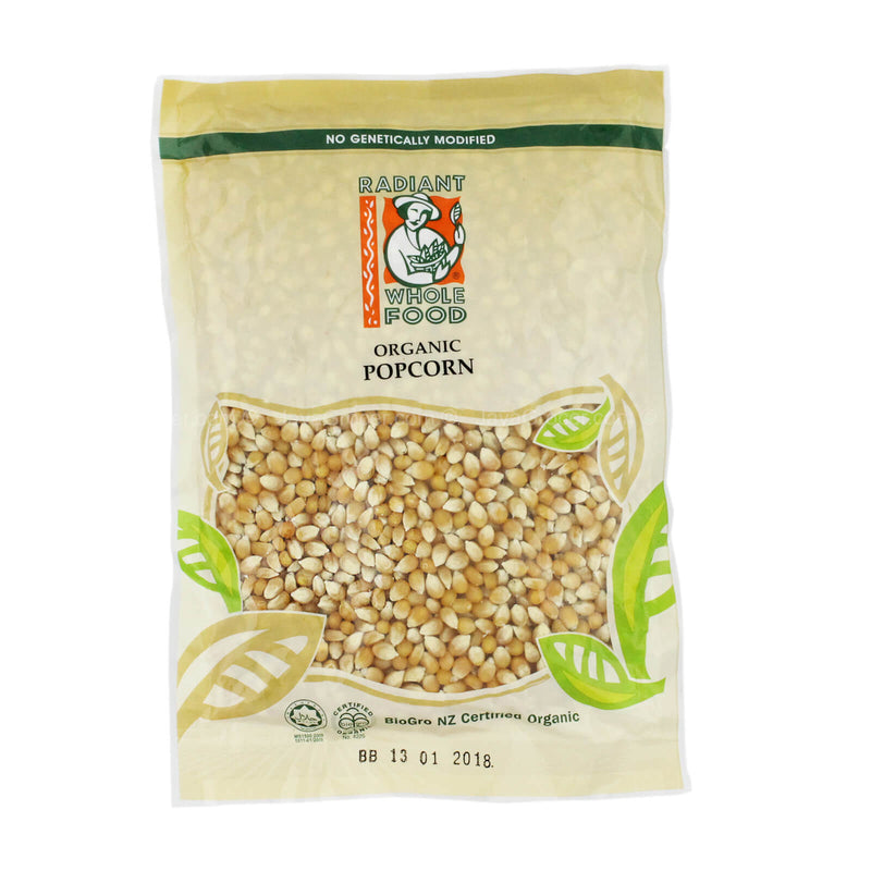 Radiant Whole Food Organic Popcorn 500g