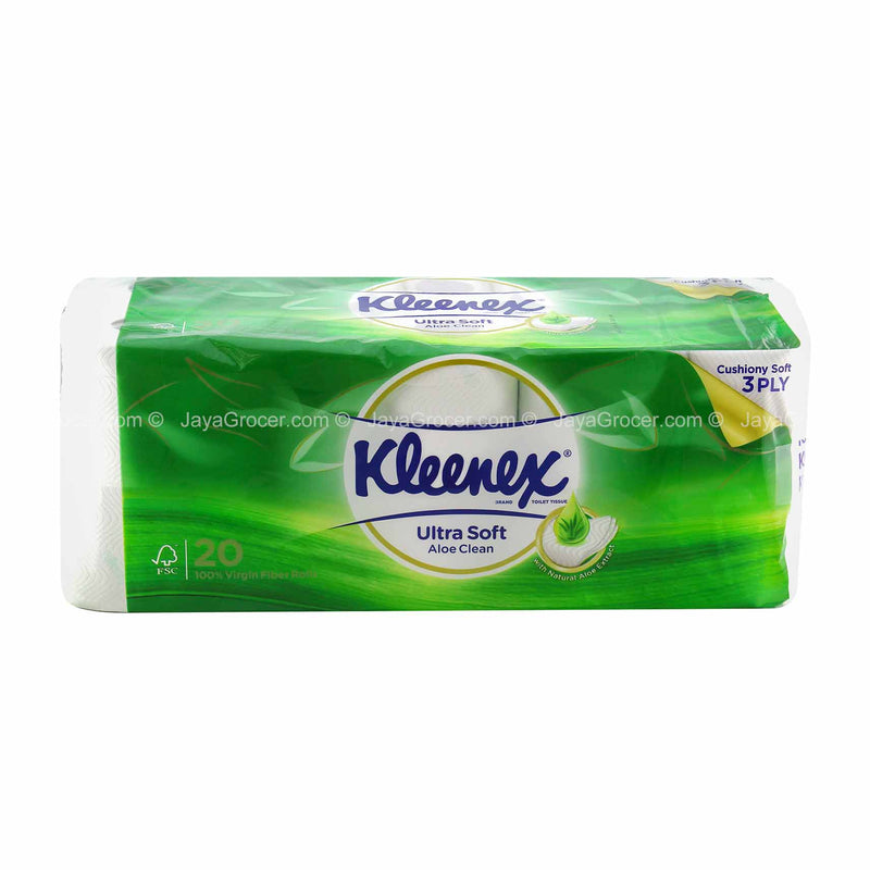 Kleenex Aloe Vera Clean Care Toilet Tissues 20 rolls