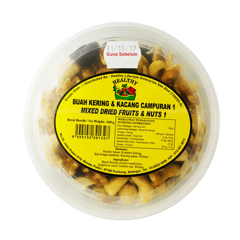 Healthy Mixed Dried Fruits & Nuts 160g